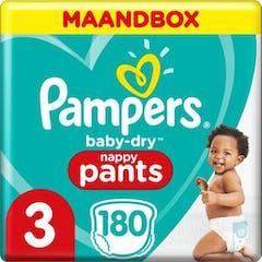 Pampers Baby Dry Pants Maat 3 - 180 Luierbroekjes Maandbox