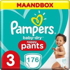 Pampers Baby Dry Pants Maat 3 - 176 Luierbroekjes Maandbox