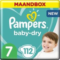 Pampers Baby Dry Maat 7- 112  Luiers  Maandbox