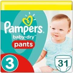 Pampers Baby Dry Pants Maat 3 - 31 Luiers