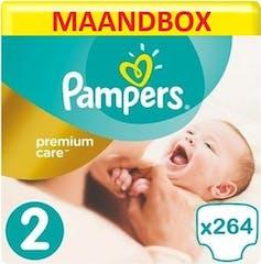 Pampers Premium Care Maat 2 - 264 Luiers Maandbox XL