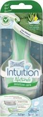 Wilkinson Intuition Naturals Sensitive Care Houder +2 scheermesjes