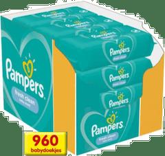 Pampers Fresh Clean Babydoekjes - 960 stuks