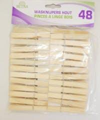 BETRA Wasknijpers Hout 48 stuks
