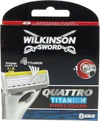 Wilkinson Quattro Titanium Precision - 8 scheermesjes