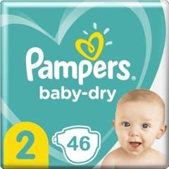 Pampers Baby Dry Maat 2 - 184 Luiers Maandbox