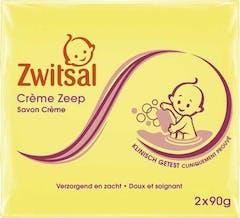 Zwitsal Baby Crème Zeep 2 x 90 Gram Verzorgend en Zacht