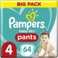 Pampers Baby Dry Nappy Pants Maat 4 - 64 luierbroekjes