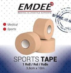 Emdee Sporttape 3,8cm*10m Single Huidskl