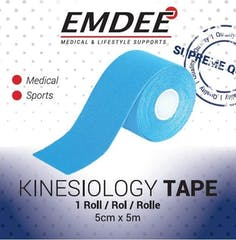 Emdee Kinesiology Tape Blauw non-cut