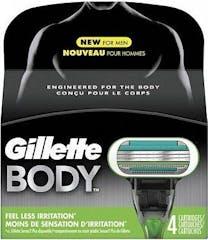 Gillette Body Scheermesjes 4 stuks