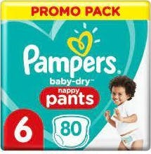 Pampers Baby Dry Pants Maat 6 - 80 Luierbroekjes