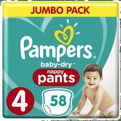 Pampers Baby Dry Pants Maat 4 - 58 Luierbroekjes
