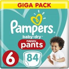 Pampers Baby Dry Pants Maat 6 - 84 Luierbroekjes Voordeelverpakking