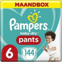 Pampers Baby Dry Nappy Pants Maat 6 - 144 luierbroekjes Maandbox