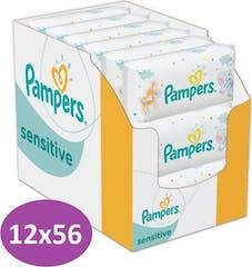 Pampers Sensitive Billendoekjes - 12x56