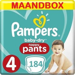 Pampers Baby Dry Pants Maat 4 - 184 Luierbroekjes Maandbox
