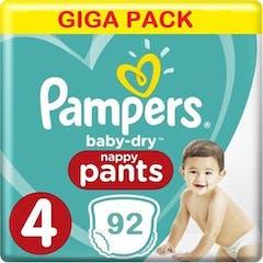 Pampers Baby Dry Nappy Pants Maat 4 - 92 Luierbroekjes