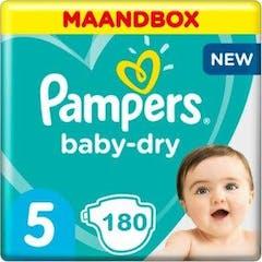 Pampers Baby Dry Maat 5 - 180 Luiers Voordeelverpakking
