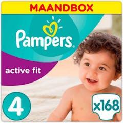Pampers Active Fit Maat 4 - 168 luiers Maandbox
