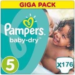 Pampers Active Baby Dry Maat 5 - 176 Luiers Maandbox