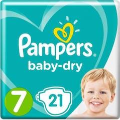 Pampers Baby Dry maat 7 -21 Luiers