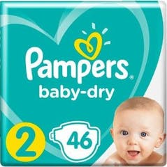 Pampers Baby Dry Maat 2 - 46 Luiers