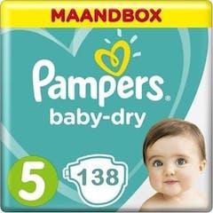 Pampers Baby Dry Maat 5 - 138 Luiers Maandbox