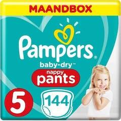 Pampers Baby Dry Pants Maat 5 - 144 Luierbroekjes Maandbox XL