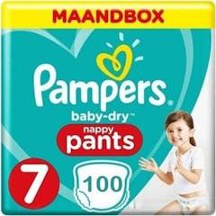 Pampers Baby Dry Pants Maat 7 - 100 Luierbroekjes Maandbox
