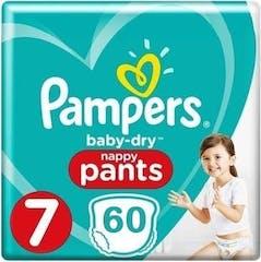 Pampers Baby Dry Pants Maat 7 - 60 Luierbroekjes