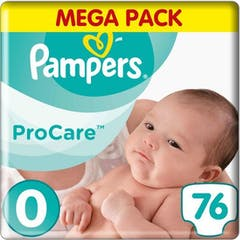 Pampers Premium Protection Procare Maat 0 - 76 Luiers