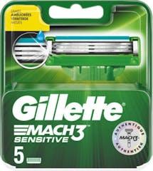 Gillette Mach3 Sensitive Scheermesjes 5 Stuks