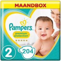 Pampers Premium Protection Maat 2 - 204 Luiers Maandbox