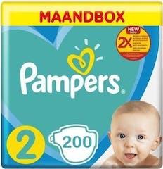 Pampers New Baby Maat 2 - 200 Luiers Maandbox