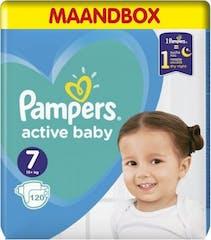 Pampers Active Baby Dry Maat 7 – 120 Luiers Maandbox