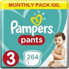 Pampers Baby Dry Pants Maat 3 - 264 Luierbroekjes Maandbox XXL