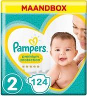 Pampers Premium Protection Luiers  Maat 2 – 124 Luiers Maandbox