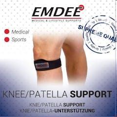 Emdee stutzband schwarz knie patella
