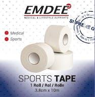 Emdee Sporttape 3,8cm*10m Single Wit