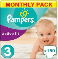 Pampers Active Fit Größe 3 - 150 Windeln