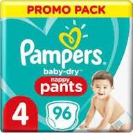 Pampers Baby Dry Pants Maat 4 - 96 Luierbroekjes Voordeelverpakking