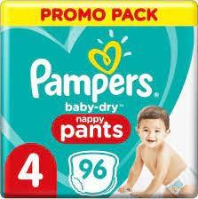 Pampers Baby Dry Pants Maat 4 - 96 Luierbroekjes