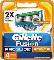 Gillette Fusion Pro Glide Power Scheermesjes 4 stuks