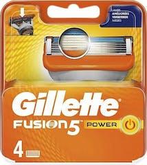 Gillette Fusion 5 Power Scheermesjes - 4 stuks