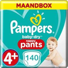 Pampers Baby Dry Pants Große 4+ - 140 Windelhosen Monatsbox