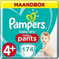 Pampers Baby Dry Pants maat 4+- 174 Luierbroekjes Maandbox