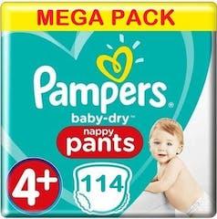 Pampers Baby Dry Pants Große 4+ - 114 Windelhosen Mega Pack