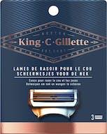 Gillette King C. Scheermesjes Hals 3 stuks