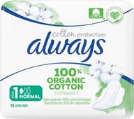 Always Maandverband Bio Cotton Normaal 12 stuks